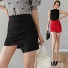 窄裙 不規則緊身包裙女2021春夏新款褶皺彈力包臀半身裙防走光一步短裙 夏季新品