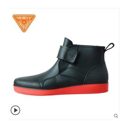雨靴Jolly Walk/非常行雨鞋男士水鞋秋冬低筒短筒時尚加絨雨靴防滑 【低價爆款】