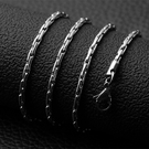 《 QBOX 》FASHION 飾品【NXL0012】精緻個性簡約圓錘環扣鈦鋼項鍊子/鋼鍊條(0.23cm)