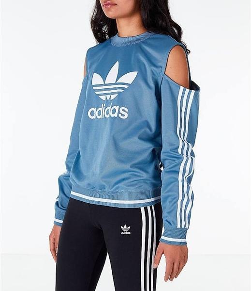 愛迪達 adidas Originals 三葉草 裸肩 白色DH2973/藍色DH2945 女裝 露肩 T桖/澤米