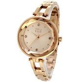 【台南 時代鐘錶 ELLE】ES21018B02X 寶石角度切割面 晶鑽時尚腕錶 玫瑰金 32mm 公司貨開發票