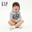 Gap男幼童 Logo棉質連帽休閒外套 567921-淺麻灰