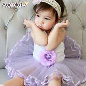 無袖包屁裙 立體花朵 蓬蓬紗 女寶寶 包屁衣 爬服 哈衣 Augelute Baby 32163