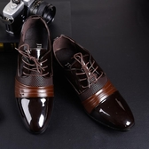 特大碼皮鞋 商務正裝男鞋 系帶尖頭休閒鞋【五巷六號】x69