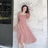 洋裝 2020夏季新款法式復古超仙女森系裙子桔梗輕熟風氣質波點洋裝女