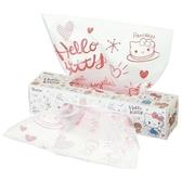〔小禮堂〕Hello Kitty 盒裝抽取式防油透明塑膠袋《40入.紅白.鬆餅》食物袋.餅乾袋 4973307-47033