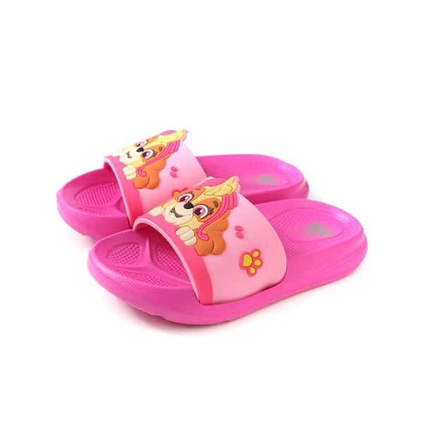 PAW PATROL 拖鞋 防水 雨天 桃紅色 中童 童鞋 D94705-140 no009