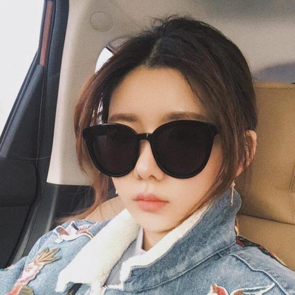 新款墨鏡女韓版潮復古原宿風gm太陽鏡圓明星網紅同款偏光眼鏡
