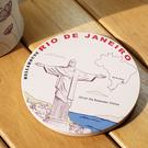 神奇吸水杯墊~里約 耶穌像...
