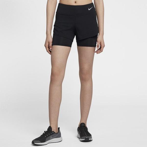 NIKE ELEVATE 2-IN-1 女裝 短褲 慢跑 訓練 排汗 黑【運動世界】 AQ5421-010