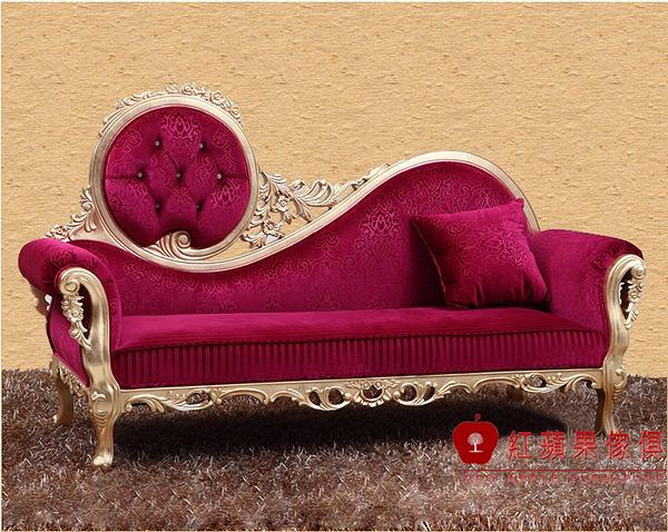 [紅蘋果傢俱] CT 新古典系列 貴妃椅 實木雕花 歐式貴妃椅 法式 躺椅 工廠直營