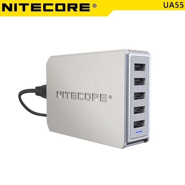 EGE 一番購】Nitecore 奈特柯爾【UA55】50W 10A 5Port USB電源供應器【公司貨】