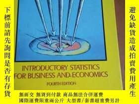 二手書博民逛書店Introductory罕見Statistics for Bus