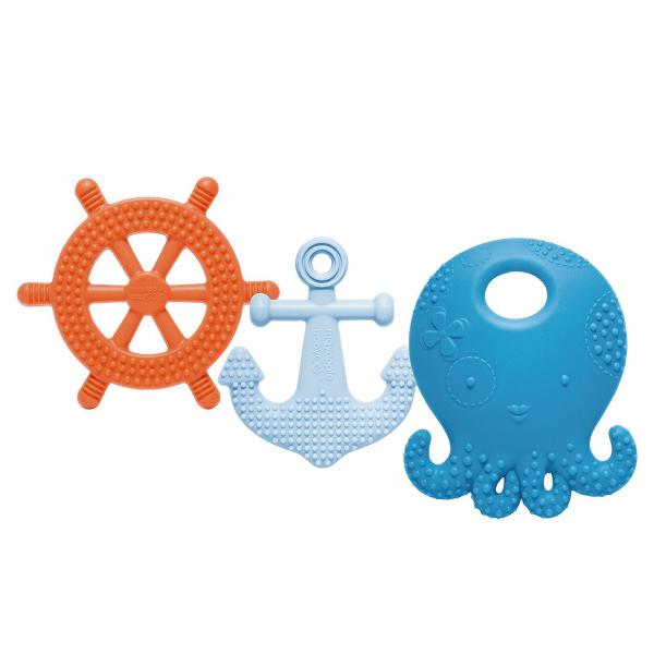 美國 Mayapple Baby 固齒器玩具組 (航海章魚/藍莓色系)