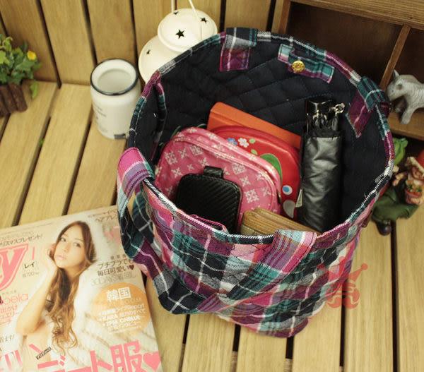 YASUURI 托特包 格紋包 手提包.水餃包.手提袋.肩背包.側背包.(小)