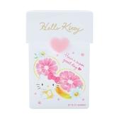 小禮堂 Hello Kitty 直式掀蓋名片盒 塑膠名片盒 名片夾 卡片盒 證件盒 (白 幸福女孩) 4550337-37180
