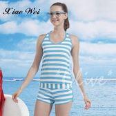 ☆小薇的店☆泳之美品牌【亮彩條紋款式】時尚二件式泳裝特價690元 NO.8550-1(M-XL)