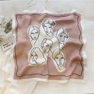 簡約氣質小方巾韓國絲巾職業小領巾飾品【倪醬小舖】