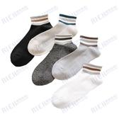 襪子男短襪夏季韓版透氣棉襪防臭吸汗男士潮流淺口條紋運動船襪潮
