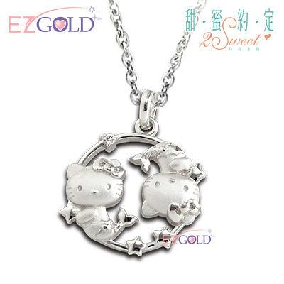 Hello Kitty凱蒂貓-雙魚座(2/19~3/20)-星座銀飾墜子