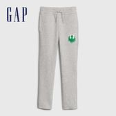 Gap男童 簡約風格純色鬆緊休閒褲 594799-淺灰色