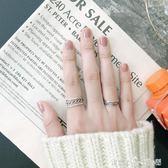 戒指 S925純銀戒指女生日韓編織麻花開口戒指閨蜜百搭氣質時尚女士指環 「潔思米」