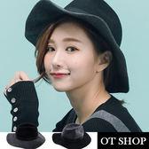 OT SHOP帽子‧純羊毛呢時尚配色‧紳士帽毛呢帽禮帽‧韓星必備氣質顯小臉時尚配件‧現貨2色‧C1715