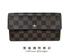 【雪曼國際精品】LV 格紋對折長夾發財包...