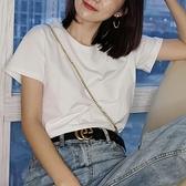 2020年新款短袖t恤女內搭打底純棉半袖大碼上衣寬鬆純白色黑夏ins 店慶降價