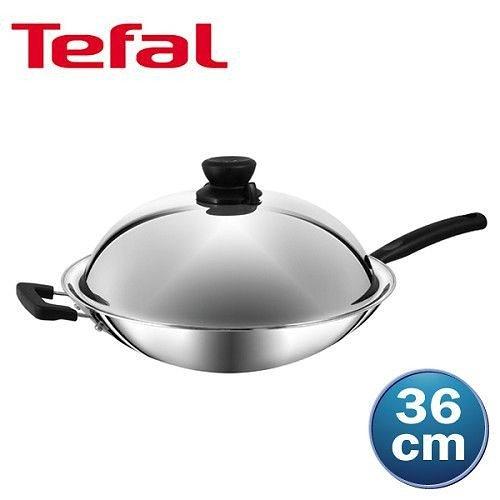 法國特福 超導不鏽鋼系列-中華炒鍋36cm (單柄)