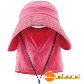 Wildland荒野 W1015-32深粉紅 中性 抗UV可脫式遮陽帽/防曬/遮陽/踏青/郊遊/可拆式休閒帽/工作帽