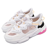 adidas 休閒鞋 Ozweego Lite W 白 桃紅 黑橘 小白鞋 愛迪達 三葉草 女鞋【ACS】 FX6295