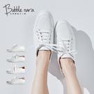 無著色小白鞋。Bubble Nara波波娜拉。運動底,防磨腳設計 DA15706