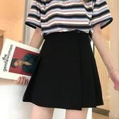A字裙 韓版高腰顯瘦百褶裙學生包臀裙a字裙夏裝女裝2019新款半身裙短裙【快速出貨八五鉅惠】