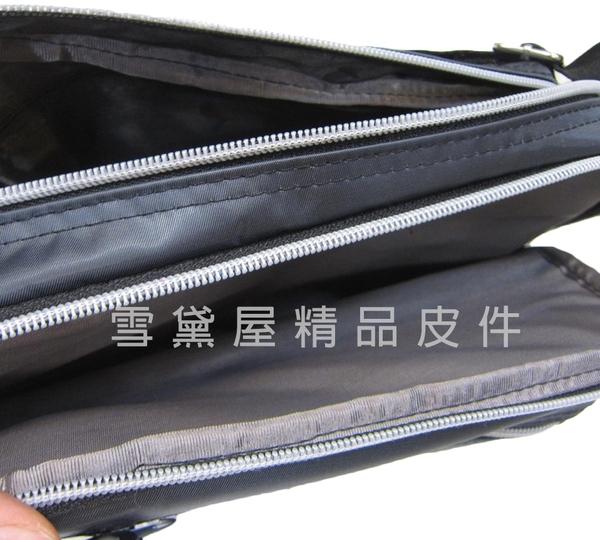 ~雪黛屋~PHILIP 斜側包小容量二層主袋口可肩背可斜側背防水尼龍布材質外出旅遊多隔層袋PA890