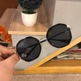 墨鏡女ins墨鏡女韓版個性圓臉顯瘦街拍太陽鏡夏季出游防紫外線遮陽眼鏡【八五折限時免運直出】