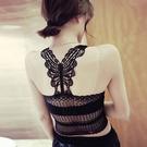 【Charm Beauty】防走光 蕾絲 裹胸 抹胸 内衣 性感美背 吊帶小背心 上衣