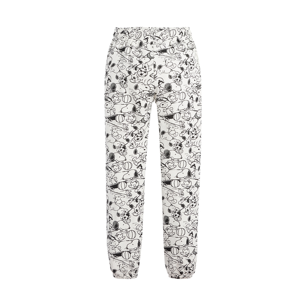 Levis X Snoopy sport限量聯名 女款 抽繩休閒棉褲 / 滿版史努比插畫印花