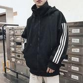 立領寬鬆洛肩連帽外套【CG6-A201-XW087】