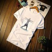 夏季韓版修身男士短袖t恤打底衫圓領半袖純棉體恤潮流上裝衣服丅 芭蕾朵朵