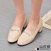 紳士鞋 金飾皮革粗跟鞋- 山打努SANDARU【1457053#46】-皮革款