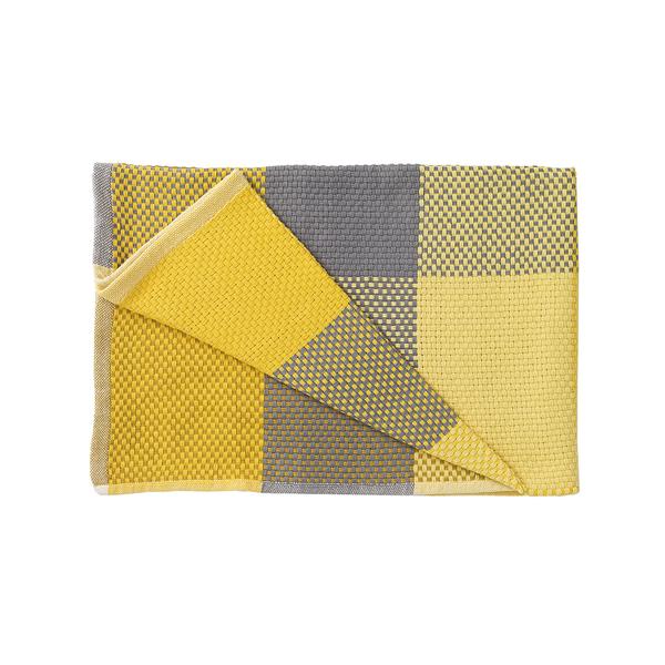 丹麥 Muuto Loom Throw 180x130cm 方格 純棉紡織 沙發毯 / 個人被毯(黃色系列)