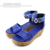 HUMAN PEACE 涼鞋 藍色 女鞋 no190