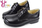 學生鞋 XSX氣墊 牛皮 女款 國高中生皮鞋 鞋帶款 C4225◆OSOME奧森鞋業