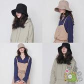 戶外休閒漁夫帽女韓國帽子女夏遮陽防曬帽子可折疊盆帽太陽帽