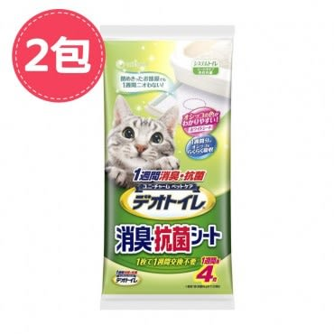 【Unicharm】日本消臭大師一周間消臭抗菌貓尿墊4片X2包