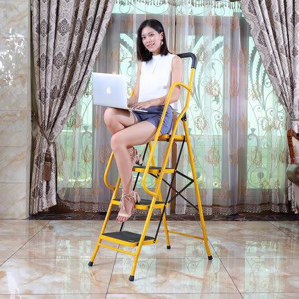 折疊梯加寬加厚伸縮梯四五步人字梯室內多功能梯子家用梯子wy