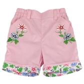 【愛的世界】純棉鬆緊帶五分褲-粉/4歲/8歲-台灣製- --春夏下著 涼夏推薦