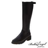 長靴 品味非凡造型後釦長筒跟靴(黑)* BalletAngel【18-A2059bk】【現+預】