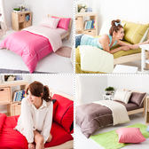 MiNiS 素色雙色系 單人床包組 100%精梳棉 台灣製 TWB01